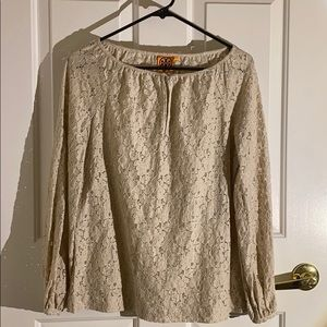 Beautiful Lace Tory Burch L\S Blouse